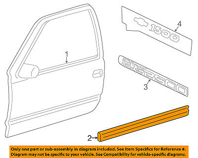 Chevrolet GM OEM Silverado 1500 FRONT DOOR-Body Side Molding Right 15045280