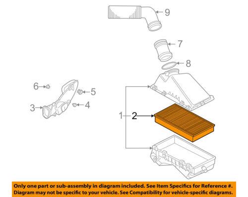 VW VOLKSWAGEN OEM 08-10 Jetta Engine-Air Filter Element 1K0129620D