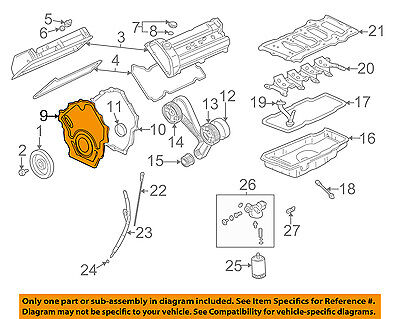 GM OEM-Engine Timing Cover 12576050