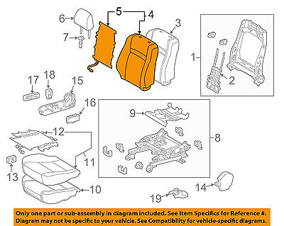 TOYOTA OEM 15-17 Camry Passenger Seat-Seat Back Cover 7107306F30B2