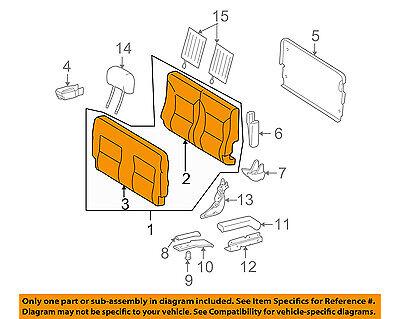 Mercedes MERCEDES-BENZ OEM 02-05 G500 Rear Seat-Back Assy Left 46392050049A84