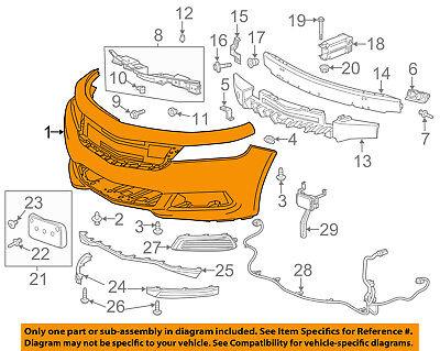 Chevrolet GM OEM 14-16 Impala Bumper Face-Foam Impact Absorber Bar 23489775
