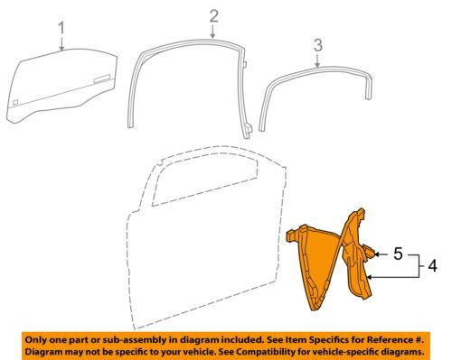 Fits 05-10 Pontiac G6 Sedan Left Driver Front Door Window Regulator