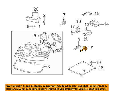 AUDI OEM 03-09 A4 Quattro-Headlight Headlamp Bulb N10566103