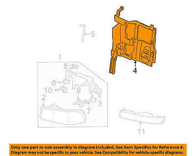 GM OEM Headlight Head Light Lamp Support Bracket Left 15798919