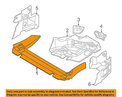 BMW OEM 2002 Z3 3.2L-L6 Air Deflector-Cooling-Air Duct 51712496714