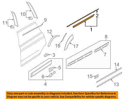 AUDI OEM 07-15 Q7 Rear Window/Door-Belt Molding Weatherstrip Right 4L0853764E2ZZ