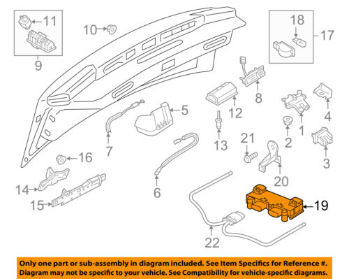 AUDI OEM 12-17 A6 Quattro Rear Bumper-Control Module 3AA962243D