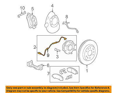 GM OEM ABS Anti-lock Brakes-Front Speed Sensor 22870821