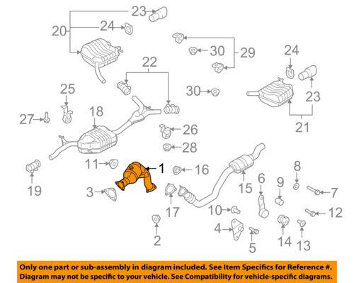 Fits 2009 To 2014 Audi A4//A4 Quattro A5//A5 Quattro//Q5 2.0L V4 Catalytic Convertr