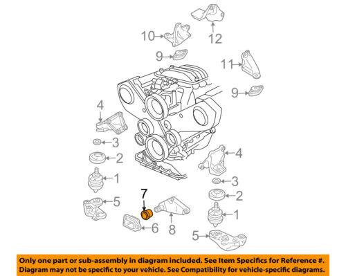 VW VOLKSWAGEN OEM 98-05 Passat Engine Motor Transmission-Stop 8D0199339P |  eBayeBay
