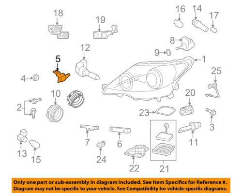 Lexus TOYOTA OEM 07-09 LS460-Headlamp Assembly Bracket Right 8111650340 |  eBayeBay