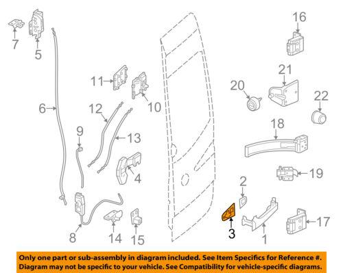 MERCEDES OEM Rear Loading Door-Handle Outside Gasket Right 9067660305
