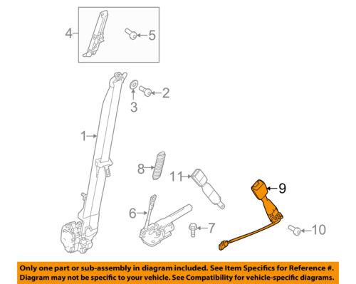 FORD OEM 13-15 Explorer Front Seat Belt-Buckle End Left DB5Z7861203AC