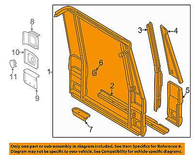 MERCEDES OEM 02-05 G500 Rear Body-Back Panel 4636401902