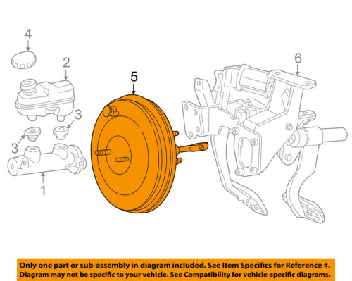 FORD OEM-Power Brake Vacuum Booster BA1Z2005A