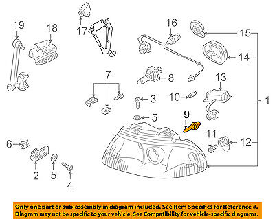 AUDI OEM 00-10 A8 Quattro-Headlight Headlamp Bulb N10445701