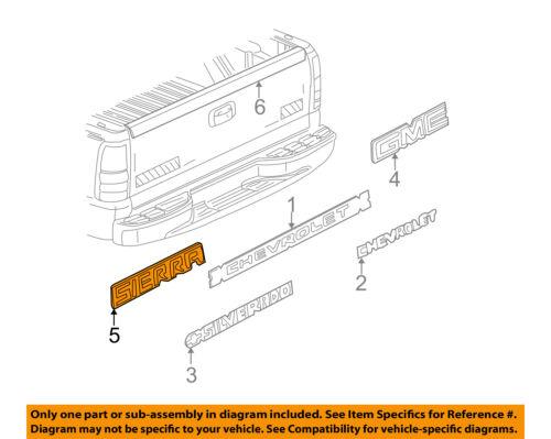GM OEM Bed Fender-Emblem Badge Nameplate 15114063