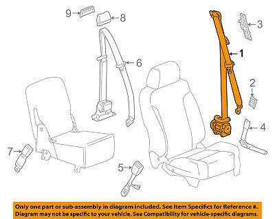 GM OEM Front Seat-Belt & Retractor Right 19330295