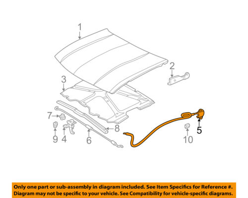 Genuine GM 21997874 Hood Latch Release Cable