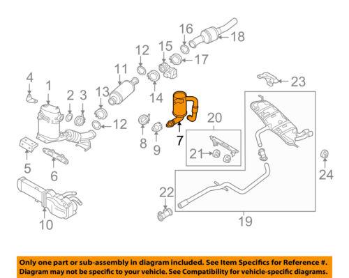 vw volkswagen oem 09-14 jetta 2.0l-l4 exhaust manifold-tube 1k0253120 | ebay  ebay