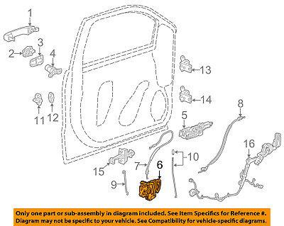 GM OEM Front Door-Lock Actuator Motor 13597536