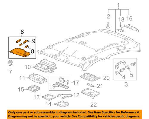 Right Genuine Hyundai 85202-2H610-8M Sun Visor Assembly