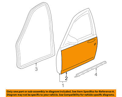 Chevrolet GM OEM 00-05 Impala-Door Skin Outer Panel Left 12455080