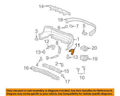 Acura HONDA OEM 04-08 TL Rear Bumper-Trim Molding Right 71502SEPA00ZA