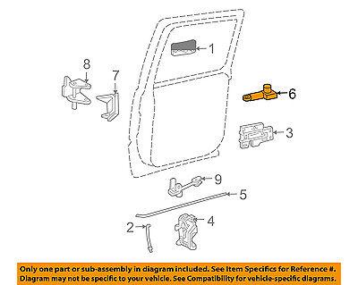 GM OEM Front Door-Lock Actuator Motor 25664287