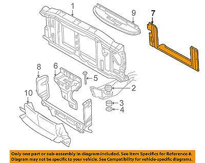 GM OEM Radiator Support-Air Baffle Duct Deflector 15749195 Air Baffle Duct