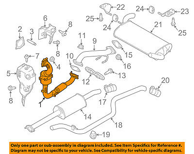 FORD OEM 16-17 Focus 1.0L-L3 Exhaust System-Catalytic Converter F1FZ5E212B