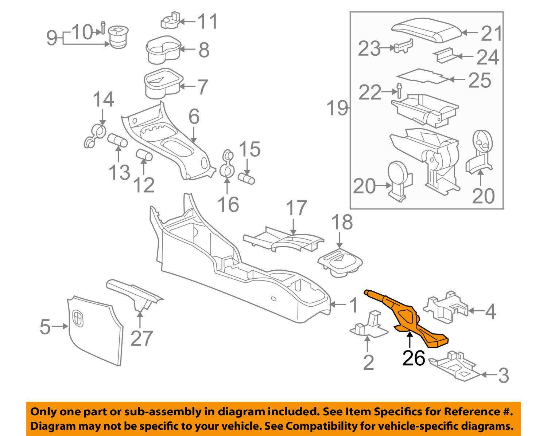 Cobalt Pursuit Pontiac G5 Parking Brake Lever Assembly New Gm Brakes Diagram 25999926 2 Of 3