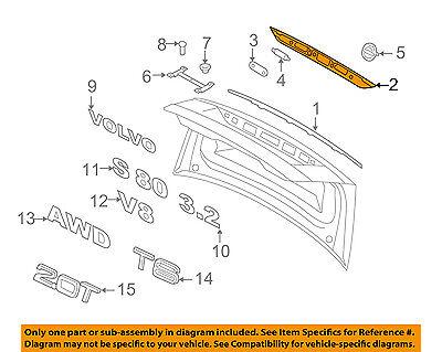 VOLVO OEM 07-16 S80 Trunk Lid-Handle 31276258