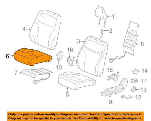 Front Right Honda Genuine 81131-SE0-A11ZA Seat Cushion Trim Cover