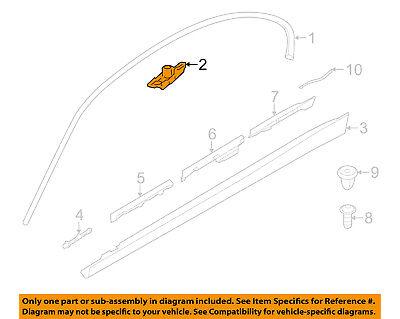 BMW OEM 07-16 328i Exterior-Reveal Molding Clip 51137117240