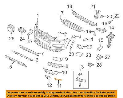 AUDI OEM 10-15 Q7 Front Bumper-Spoiler Trim Right 4L08072442ZZ