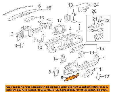 GM OEM Instrument Panel Dash-Knee Bolster 15844172