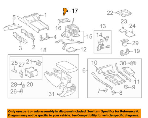 TOYOTA Genuine 33504-AC020-B2 Shift Lever Knob Sub Assembly