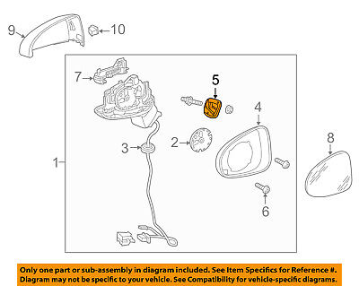 AUDI OEM 15 16 A3 Door Side Rear View Mirror Seal Right 8V1867130