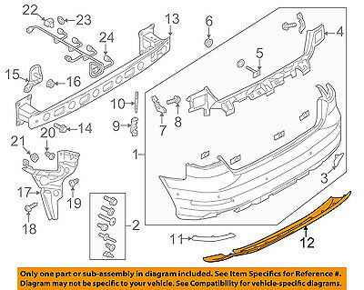 AUDI OEM 15 16 A3 Spoiler Valance Panel 8V5807521J