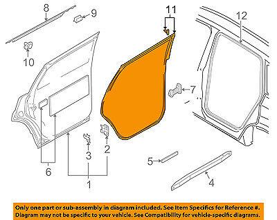 AUDI OEM 07-15 Q7 Rear Door-Weatherstrip Seal Right 4L0839912