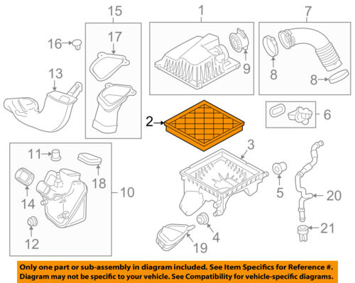 GM OEM Engine-Air Cleaner Filter Element 13272720