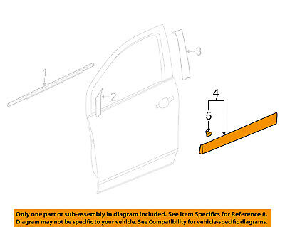 Chevrolet GM OEM 15-16 Trax Front Door-Lower Molding Trim Left 95275365