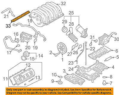 AUDI OEM 08-12 R8-Engine Intake Manifold Gasket 079133074B