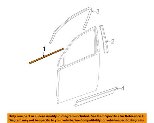 GM OEM Front Door Window Sweep-Belt Molding Weatherstrip Right 25791525