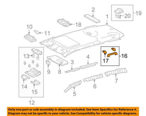 TOYOTA 74610-33110-B0 Assist Grip Assembly