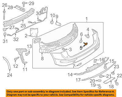 AUDI OEM 12-17 A7 Quattro Rear Bumper-Stud Plate 8K0807739