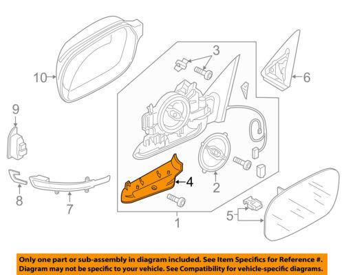 Audi A4 B8 OS Right Door Mirror Lower Bottom Base Trim New Genuine 8T0858524