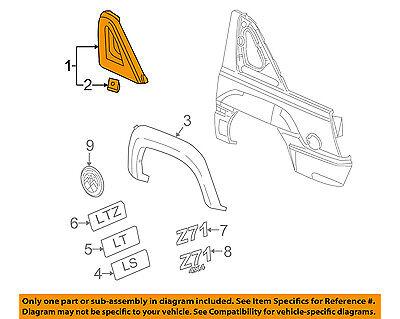 GM OEM EXTERIOR TRIM-QUARTER PANEL-Upper trim Left 25786465